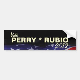 Vote PERRY * RUBIO 2012 Bumper Sticker