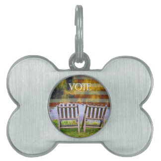 VOTE PET NAME TAG