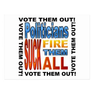 Vote Politicians Out! Postcard