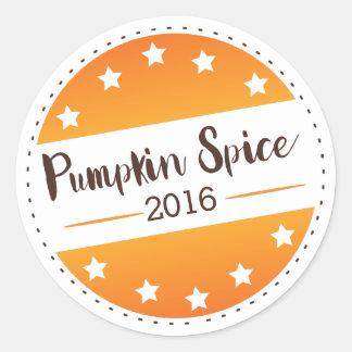 Vote Pumpkin Spice Classic Round Sticker
