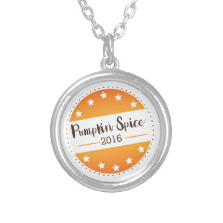 Vote Pumpkin Spice Silver Plated Necklace