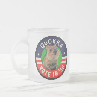 Vote Quokka in 2016 for President Frosted Glass Coffee Mug