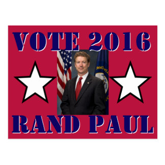 VOTE RAND PAUL 2016 POSTCARD