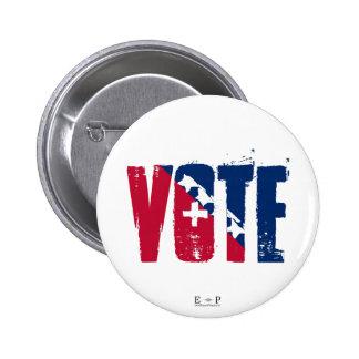 Vote Red, White & Blue Button