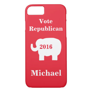 Vote Republican 2016 Name Personalized Red iPhone 7 Case
