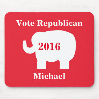 Vote Republican 2016 Name Personalized Red Mouse Pad