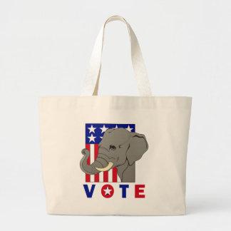 VOTE REPUBLICAN ELEPHANT LARGE TOTE BAG