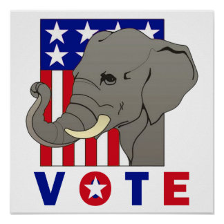VOTE REPUBLICAN ELEPHANT Poster
