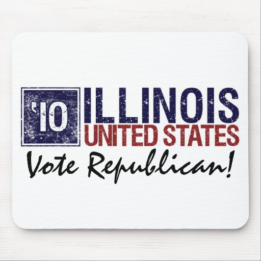 Vote Republican in 2010 – Vintage Illinois Mouse Pads