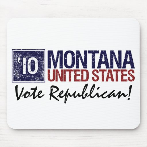 Vote Republican in 2010 – Vintage Montana Mouse Pads