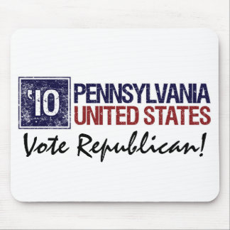 Vote Republican in 2010 – Vintage Pennsylvania Mouse Pad
