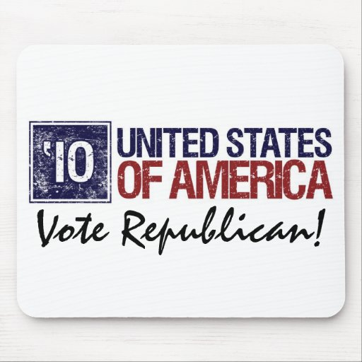 Vote Republican in 2010 – Vintage United States Mouse Pad