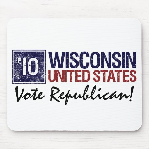 Vote Republican in 2010 – Vintage Wisconsin Mouse Pad