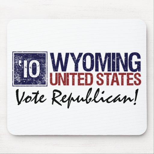 Vote Republican in 2010 – Vintage Wyoming Mouse Pads