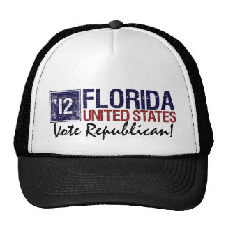 Vote Republican in 2012 – Vintage Florida Mesh Hat