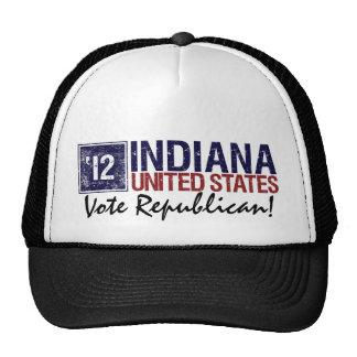 Vote Republican in 2012 – Vintage Indiana Mesh Hat