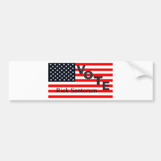 Vote Rick Santorum for President 2016 Bumper Sticker