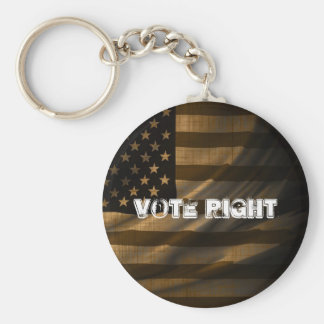 Vote Right Basic Round Button Key Ring