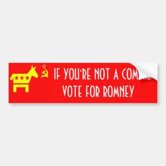 Vote Romney Car Bumper Sticker