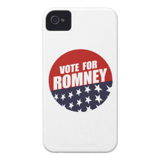 VOTE ROMNEY BUTTON iPhone 4 COVERS