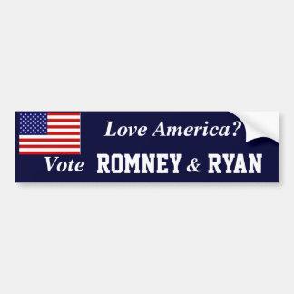 Vote Romney Ryan Bumper Sticker