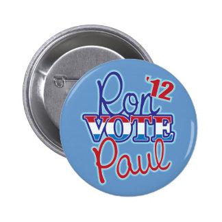 Vote Ron Paul '12 6 Cm Round Badge