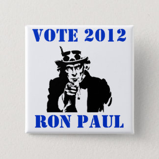 VOTE RON PAUL 2012 15 CM SQUARE BADGE