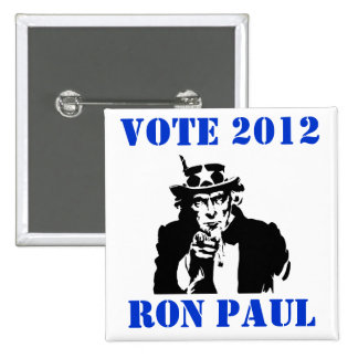 VOTE RON PAUL 2012 PINS