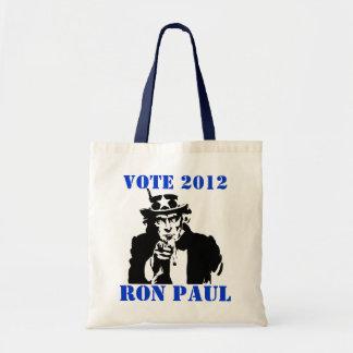 VOTE RON PAUL 2012 TOTE BAGS