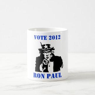 VOTE RON PAUL 2012 BASIC WHITE MUG