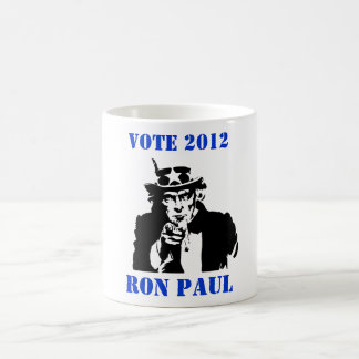 VOTE RON PAUL 2012 BASIC WHITE MUG