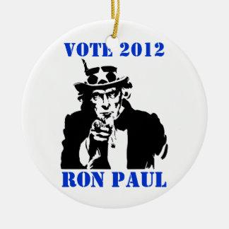 VOTE RON PAUL 2012 ROUND CERAMIC DECORATION