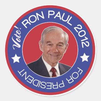 Vote Ron Paul 2012 Republican Round Sticker