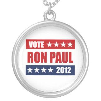 VOTE RON PAUL 2012 - ROUND PENDANT NECKLACE