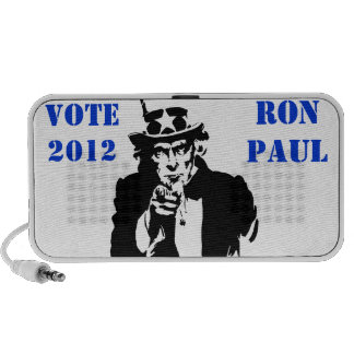 VOTE RON PAUL 2012 PORTABLE SPEAKERS