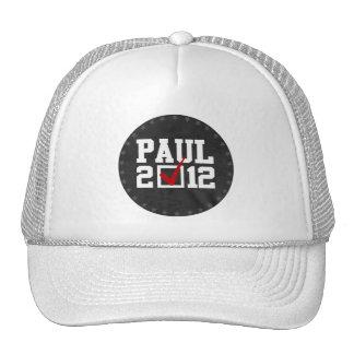 VOTE RON PAUL 2012 (white) Cap
