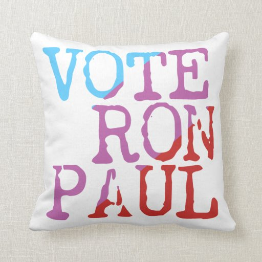 Vote Ron Paul for President Throw Pillows