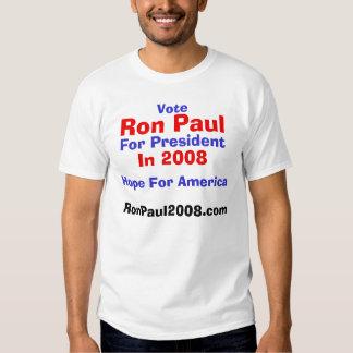 Vote, Ron Paul, For President, In 2008, RonPaul... Tees