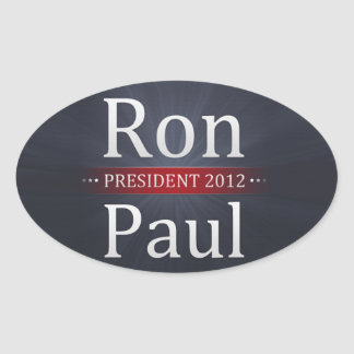 Vote Ron Paul for President in 2012 Oval Sticker