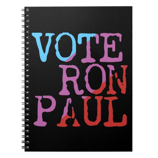 Vote Ron Paul for President Spiral Note Book