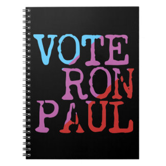 Vote Ron Paul for President Spiral Note Books