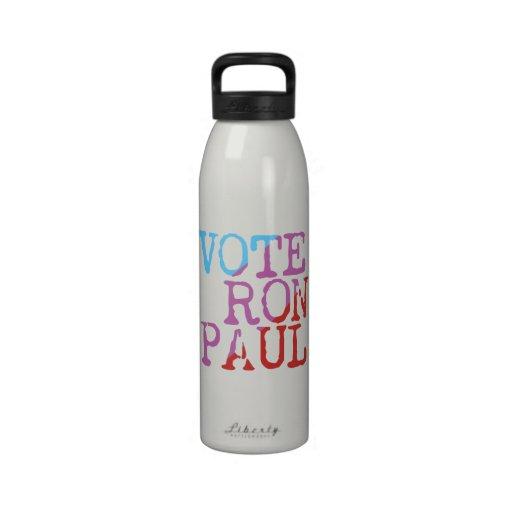 Vote Ron Paul for President Water Bottle