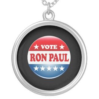 VOTE RON PAUL ROUND PENDANT NECKLACE