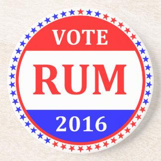Vote RUM 2016, starred border coaster
