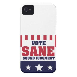 Vote Sane Sound Judgment iPhone 4 Case-Mate Case