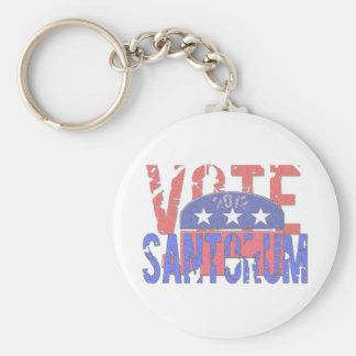 Vote Santorum 2012 Basic Round Button Key Ring
