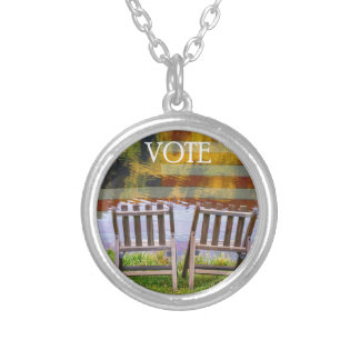 VOTE SILVER PLATED NECKLACE