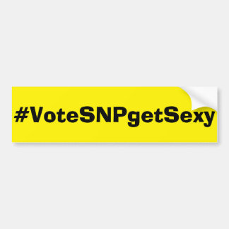 Vote SNP Bumper Sticker