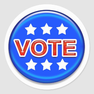vote round sticker