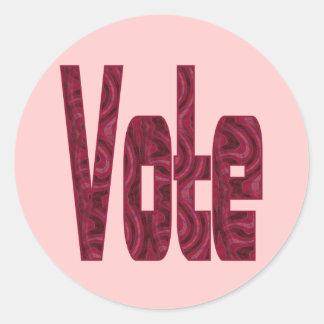 vote classic round sticker